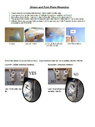 TAOS Shoe and Foot Plate Mounting Instructions